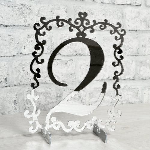Swirl Style Table Numbers