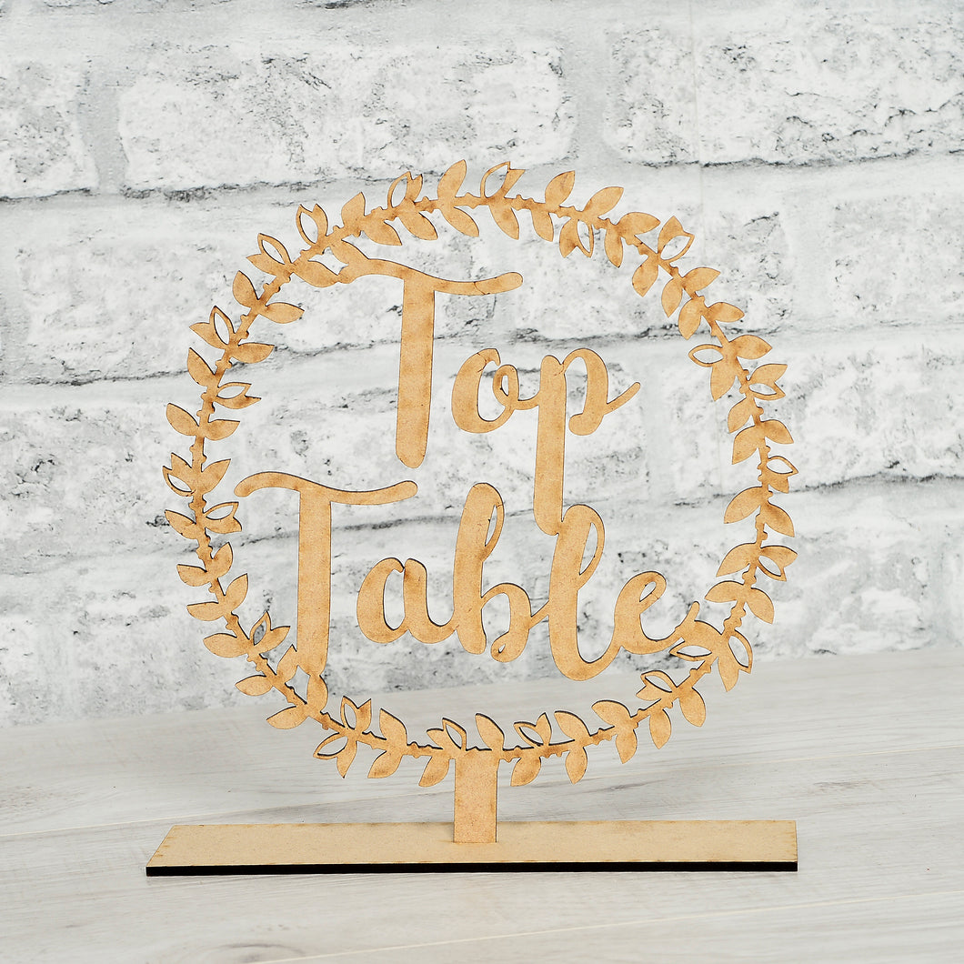 Wreath Style Table Names / Numbers