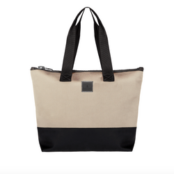 big black and white weekend bag