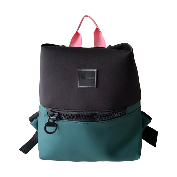 black green backpack