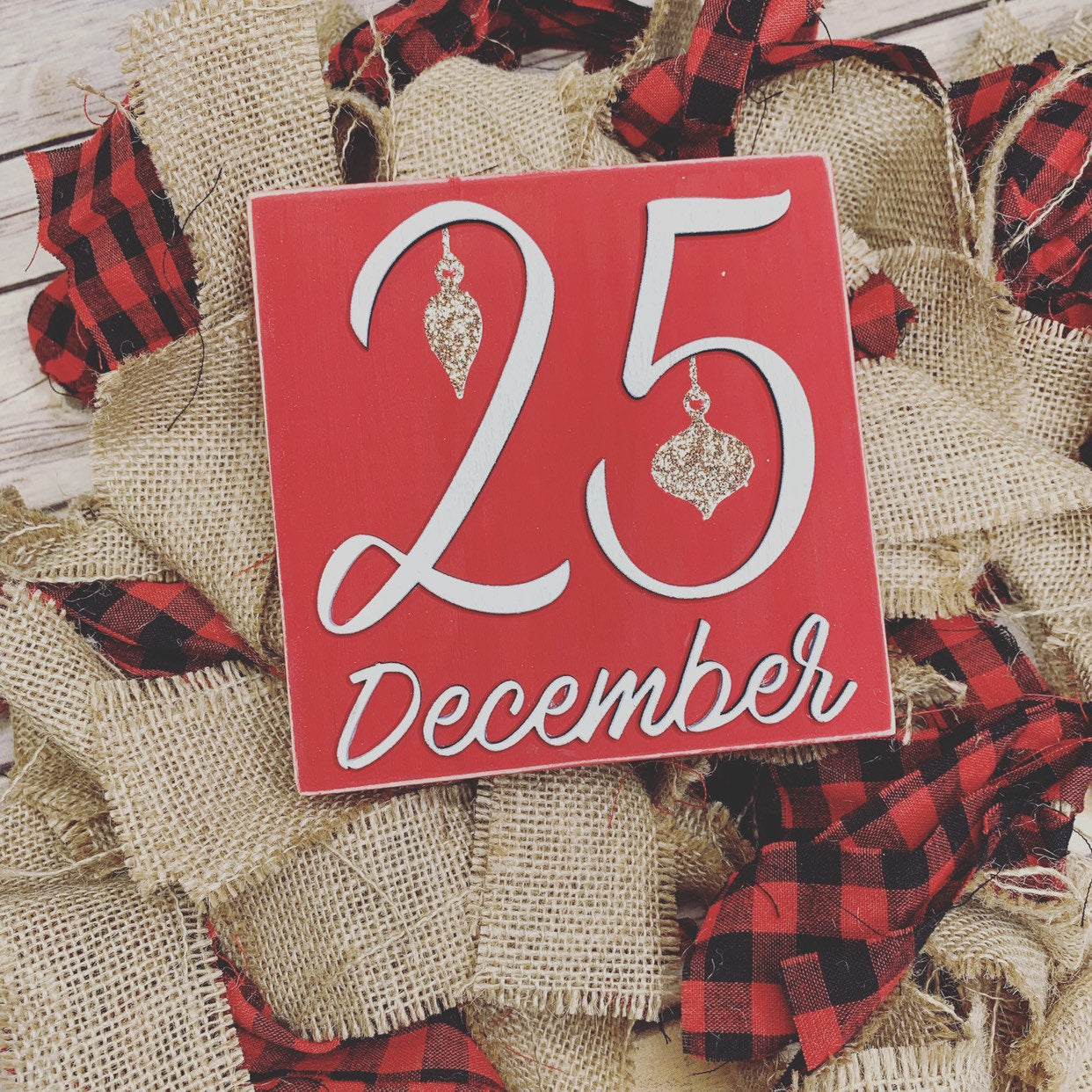 25 December Christmas Red 3D Wood Sign | Christmas sign | Small wood sign | Christmas Decor | Christmas | December Sign | Tiered tray
