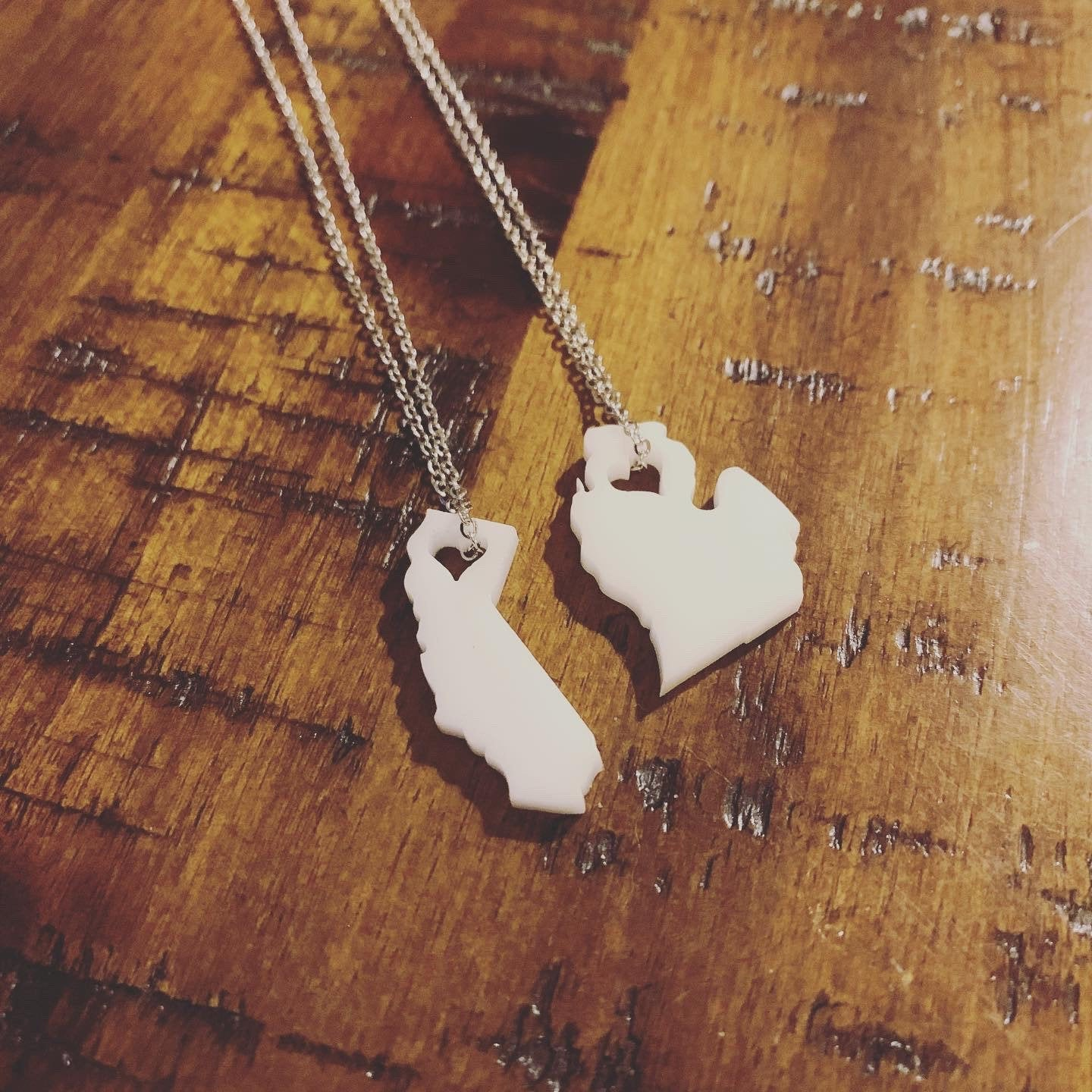Home State Necklace | Home Necklace | Heart Home Necklace