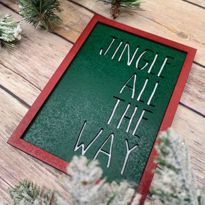 Jingle all the way Christmas Sign 3D Wood Sign | Christmas sign | Christmas Decor | Christmas | December Sign | Tiered tray