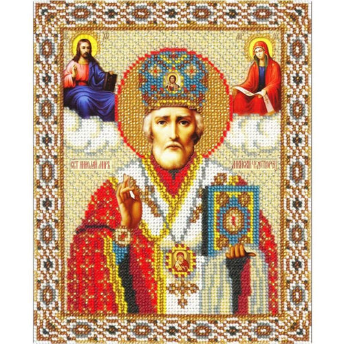 100% 5d Diamond Painting Cross Stitch Kit - Religious Leader Mosaic - The Oasis Lab