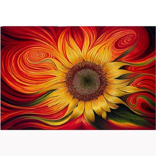 100% 5d Diamond Painting Cross Stitch Kit - Sunflower Mosaic - The Oasis Lab