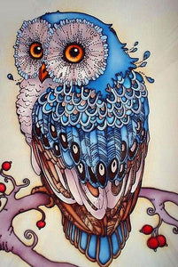 100% DIY 5d Diamond Painting Cross Stitch Kit - Night Owl Mosaic - The Oasis Lab