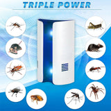Bread Type Multi-function Ultrasonic Electronic Repeller Repels Mice Bed Bugs Mosquitoes Spiders Insect Repellent Killer - The Oasis Lab