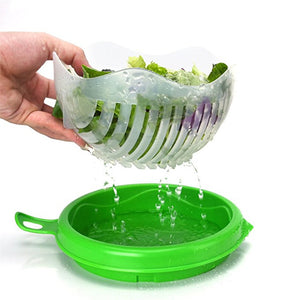 Perfect Salad Cutter Bowl - IN UNDER 60 SECONDS! - The Oasis Lab
