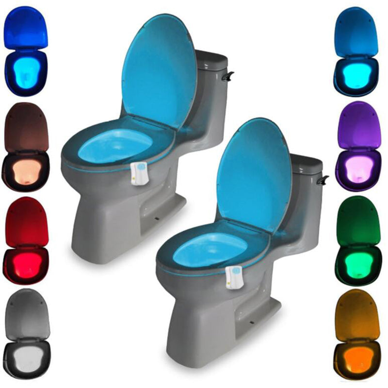 Washingroom Bathroom Motion Bowl Toilet light Activated On/Off Lights Seat Sensor Lamp nightlight seat light - The Oasis Lab