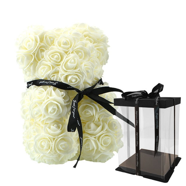 Luxury Bouquet Bear w/ Display Box (23cm) - The Oasis Lab
