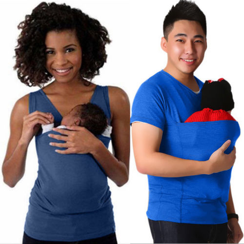 Pudcoco Fashion Women Men T-shirt Mother Father Kangaroo Vest Parenting Child Tops Baby T-Shirts - The Oasis Lab