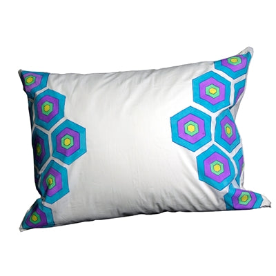 Hexagon Patterned Pillow