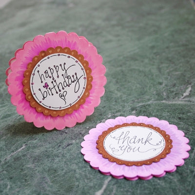 Scalloped Circle Card