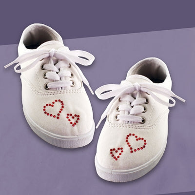 Crystal Heart Shoes