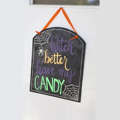 Halloween Chalkboard Art Sign