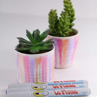 Alcohol Marker Painted Pots