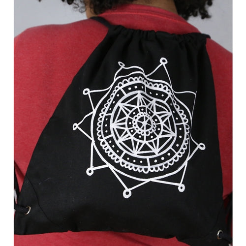 Easy Mandala Backpack With Fabric Markers
