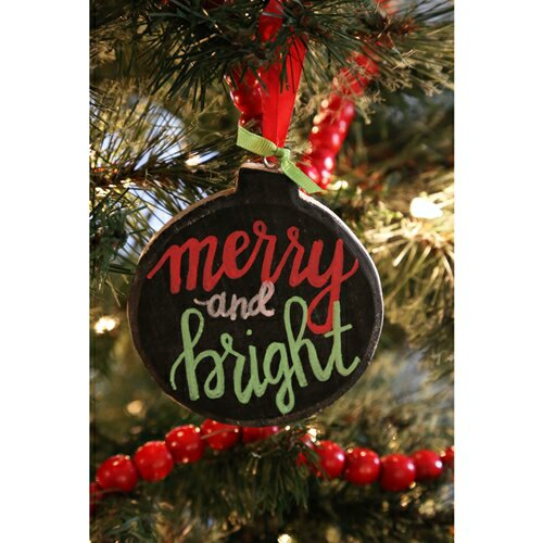 Super Simple Chalkboard Ornament