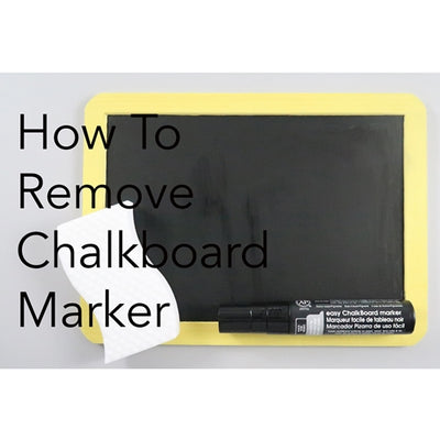 How To Remove Chalkboard Marker Ink with Video