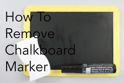 How to Erase Chalkboard Markers