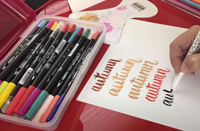 Brush Lettering Markers Comparison