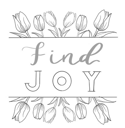 Find Joy - Free Coloring Page