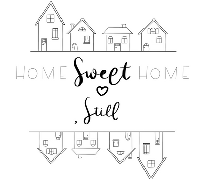 Home Sweet Home - Free Coloring Page