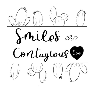 Smiles are Contagious - Free Coloring Page