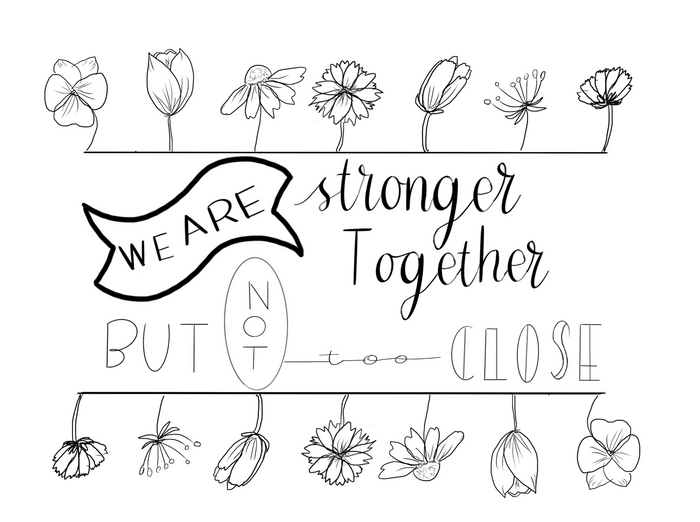 Stronger Together - Free Coloring Page