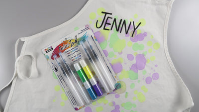 Easy Watercolor Paint Splattered Apron