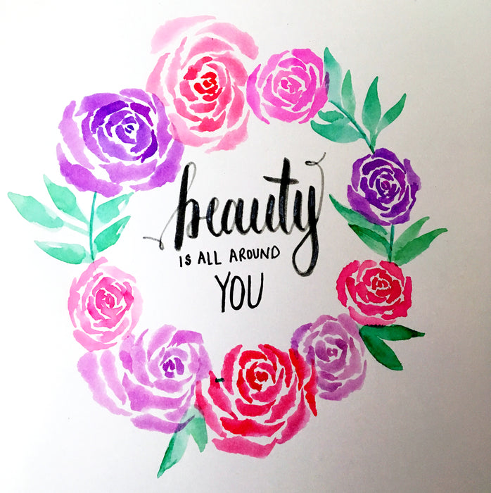 How To Watercolor a Rose With Markers