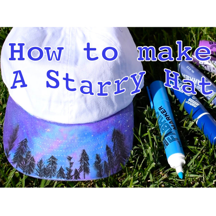 How to Make a Starry Cap with MARVY UCHIDA Fabric markers Video