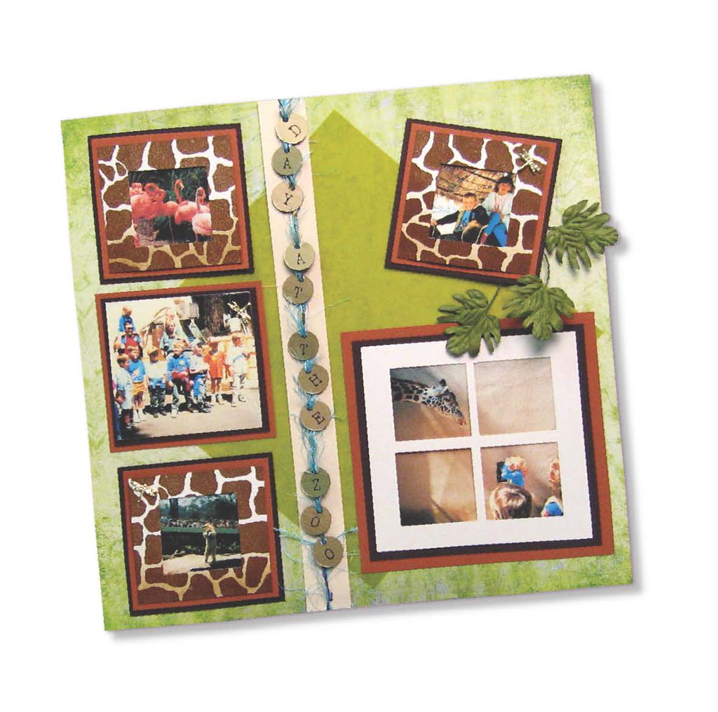 At the Zoo Scrapbook Page Tutorial