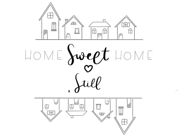 Home Sweet Home Free Coloring Page