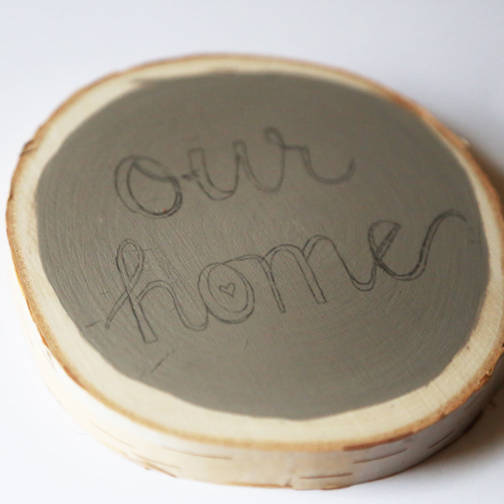 Chalkboard Home Decor Wood Slice