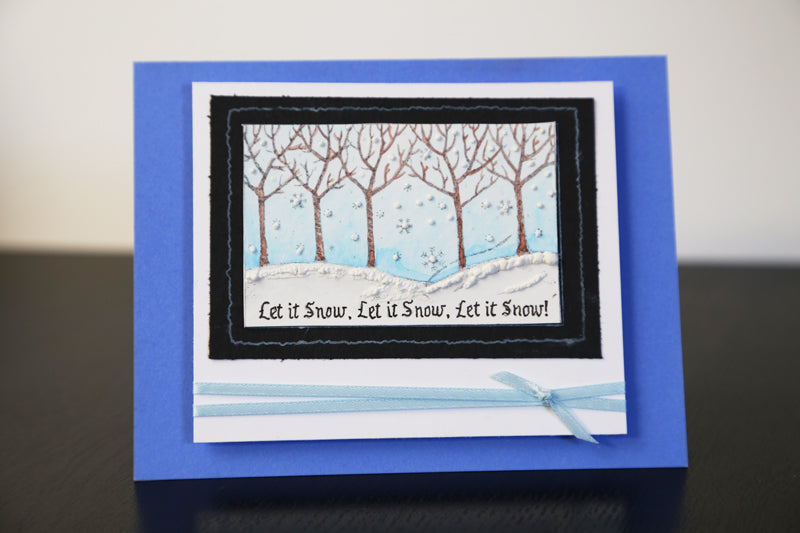 Let it Snow Handmade Card Tutorial