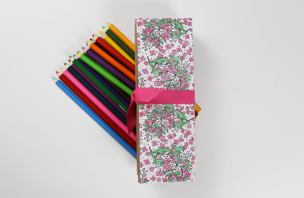 Coloring Book Pencil Box Tutorial