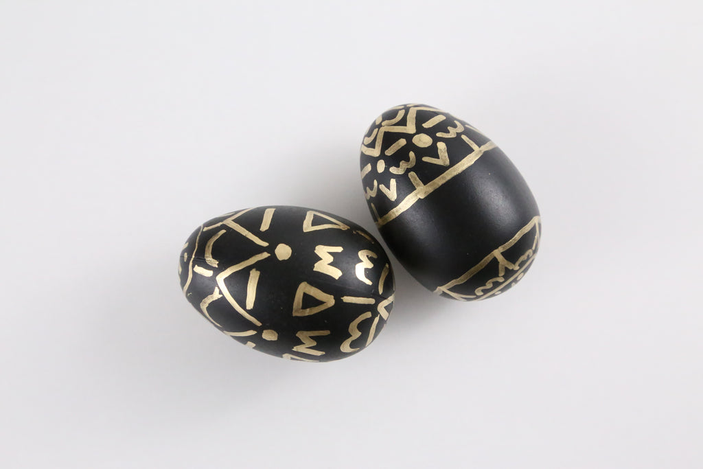 Gold Print Easter Egg DIY