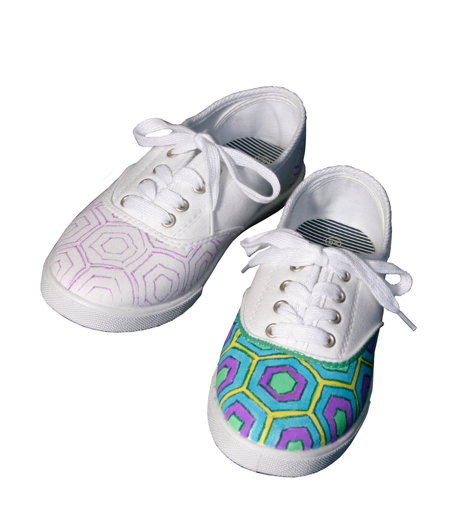 Hexagon Patterned Shoes Project