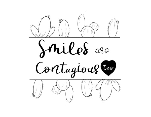 Smiles Are Contagious Free Coloring Page