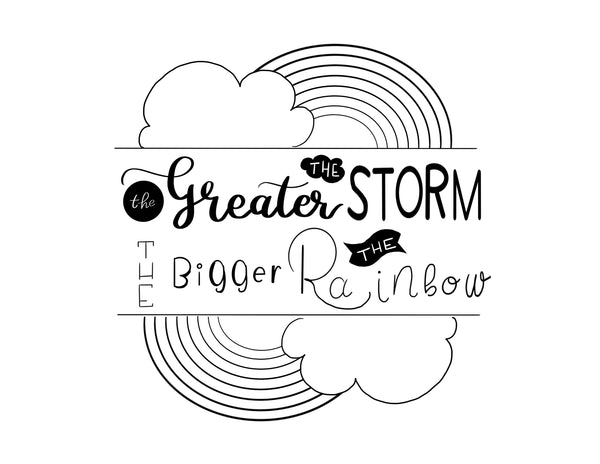 The Greater the storm - free coloring page
