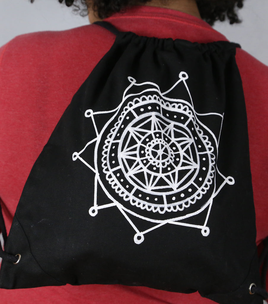 Easy Mandala Backpack With Fabric Markers Project