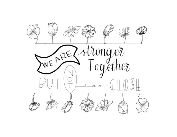 Stronger Together Coloring Page