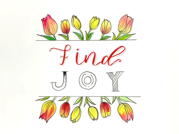 Find Joy Coloring Page