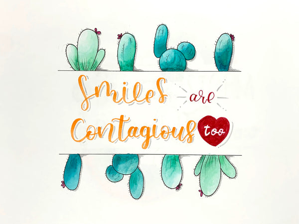 Smiles are Contagious Coloring Page