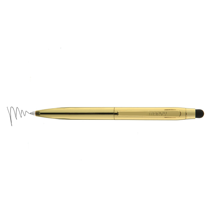 Tropez Petite 2-in-1 Stylus and Pen Open Stock with Black Ink Art Supplies Gold UCHIDA St