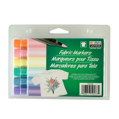 FABRIC MARKER BRUSH TIP - PASTEL SET