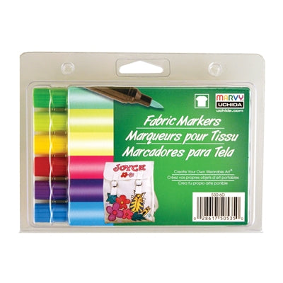 FABRIC MARKER BRUSH TIP - BRILLIANT SET