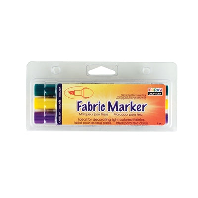 MARVY® FABRIC MARKER CHISEL TIP - TROPICAL SET