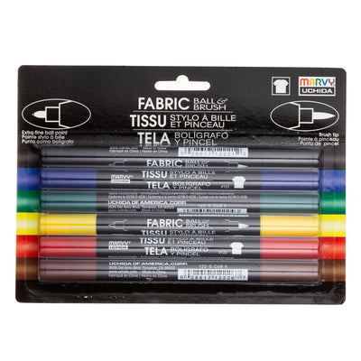 FABRIC BALL AND BRUSH 6 PIECE SET A
